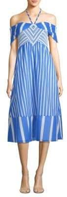 Tanya Taylor Celina Colorblock Stripe Maxi Dress