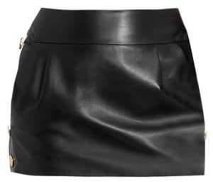 Alexandre Vauthier Women's Leather Mini Skirt - Black - Size 40 (8)