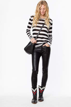 Zadig & Voltaire Willy Stripes Foil T-shirt