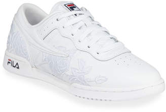 Fila Original Fitness Embroidered Roses Leather Sneakers