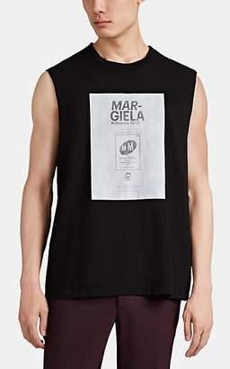 Maison Margiela Men's Graphic Cotton Tank - Black