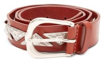 Isabel Marant Nyzo Metal Embellished Leather Belt - Womens - Tan