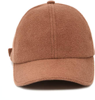 Officine Generale Brown Wool-Cashmere Baseball Cap
