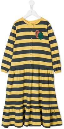 Bobo Choses patch detail striped dress
