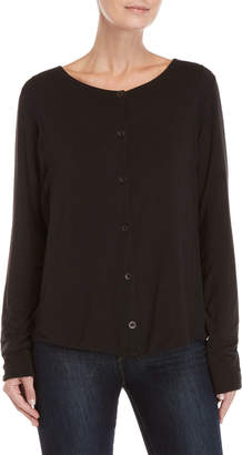 Transit Par Such Woven Side Button Cardigan