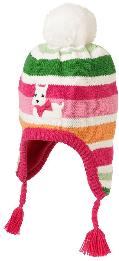 Westie Puppy Stripe Sweater Hat