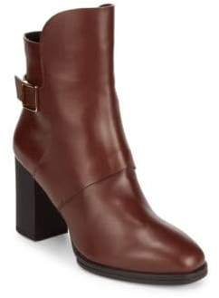 Tod's Buckle Leather Booties