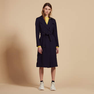 Sandro Flowing trench coat with belt