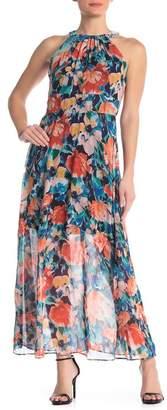 ECI Halter Neck Floral Maxi Dress