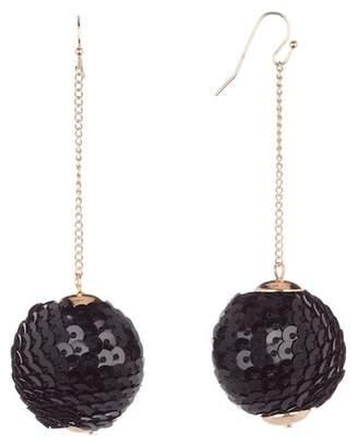 Shashi Naomi Sequins Ball Chain Drop Earrings