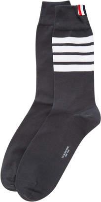Thom Browne Mid-Calf Striped Socks