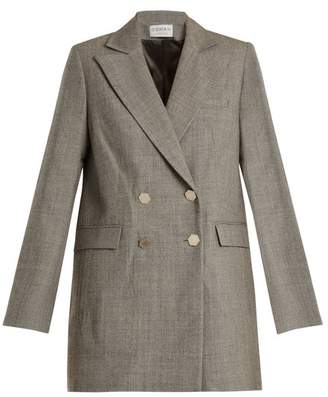Osman Adelaide Double Breasted Wool Jacket - Womens - Grey
