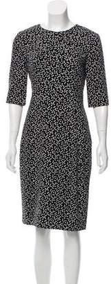 LK Bennett Pleated Polka Dot Dress