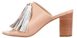 Loeffler Randall Leather Tassel Sandals