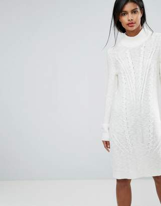 Vila Cable Knit Sweater Dress