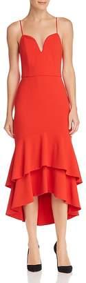 Alice + Olivia Amina Ruffled High/Low Dress
