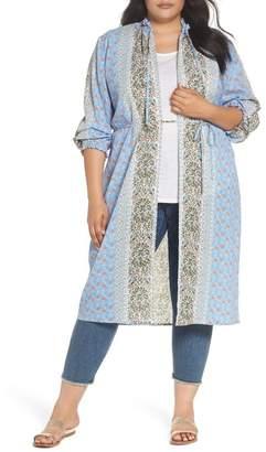 Glamorous Smocked Kimono (Plus Size)