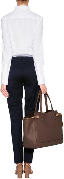 Jil Sander Navy Cotton Blouse in White