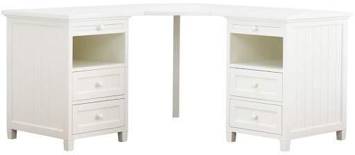 Beadboard Basic Corner Desk, Simply White
