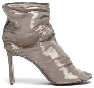 Nicholas Kirkwood D'arcy Gathered Metallic Tulle Boots - Womens - Silver