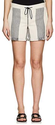 Derek Lam WOMEN'S COTTON-BLEND BASKET-WEAVE SHORTS