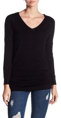 Woven Heart Cross Back Tunic Sweater