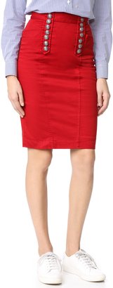 DSQUARED2 High Waisted Pencil Skirt $795 thestylecure.com
