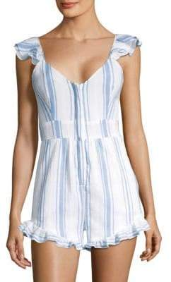 LoveShackFancy Lucy Stripe Romper