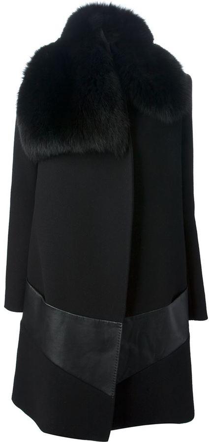 Sharon Wauchob fur collar coat
