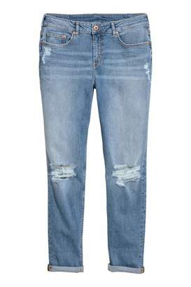 H&M Boyfriend Slim Low Jeans - Denim blue - Women
