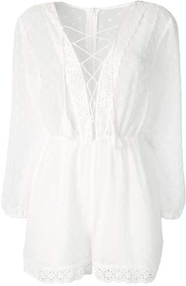 Jovonna London embroidered playsuit