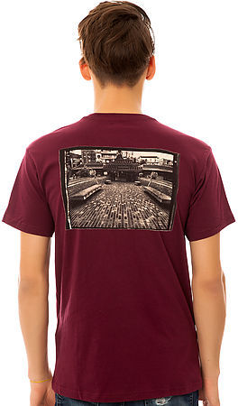Levi's Levis Skateboarding Collection The Thrasher Tee in Cabernet