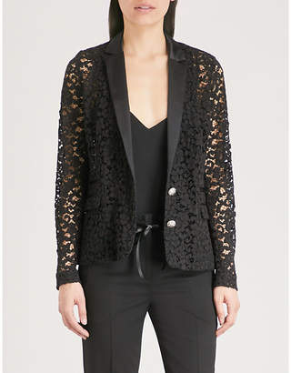 The Kooples Corded floral-lace jacket