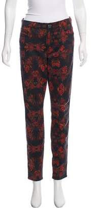 7 For All Mankind Floral Print Mid-Rise Pants
