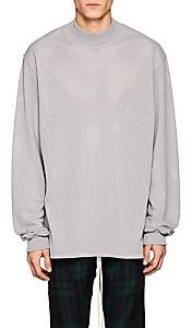 Fear Of God Men's Mesh Long-Sleeve Shirt-Gray