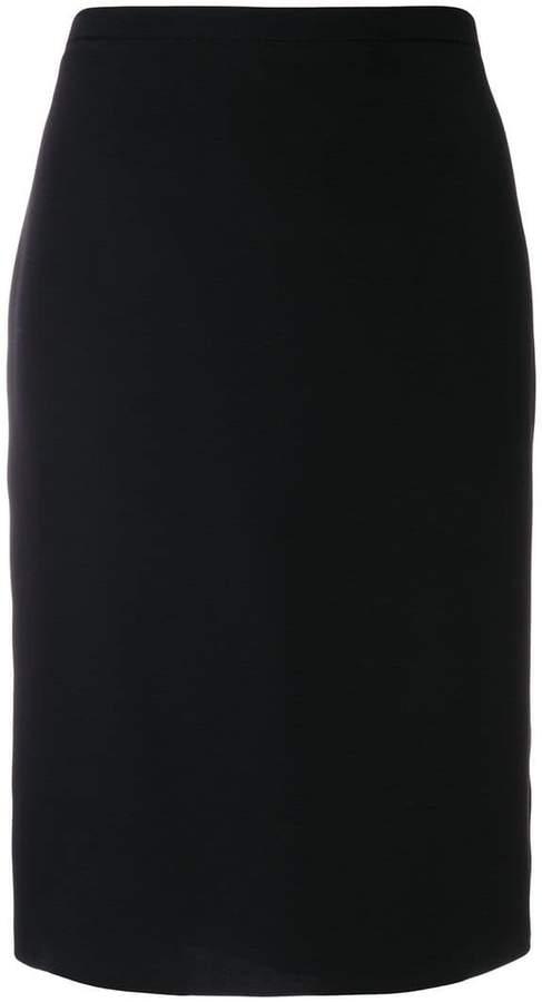 Armani Collezioni slim-fit midi skirt
