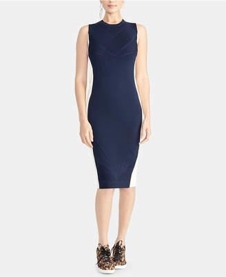Rachel Roy Penelope Mixed-Stitch Sleeveless Bodycon Sweater Dress