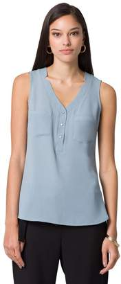 Le Château Front Pocket Sleeveless Top,L
