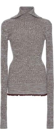 Jil Sander Turtleneck Collar Wool-Blend Sweater