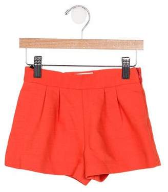 Milly Girls' Knit Pleated Shorts