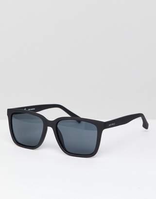 Jack Wills Square Sunglasses in Black