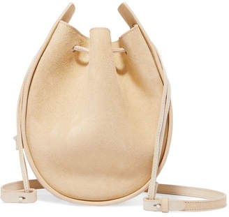 The Row Suede Shoulder Bag - Sand
