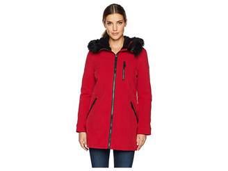 Calvin Klein Faux Fur Trimmed Anorak Softshell