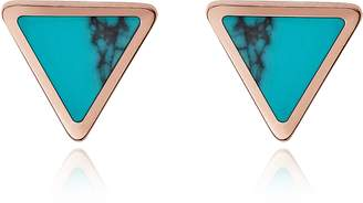 Fossil Turquoise Triangle Studs Earrings