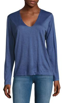 Akris Cashmere & Silk Long-Sleeve Tee