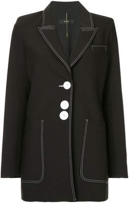 Ellery topstitch three button jacket