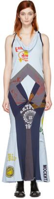 Junya Watanabe Blue Patchwork Print Mix Dress $1,290 thestylecure.com