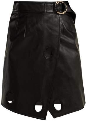 Self-Portrait Wrap mini skirt