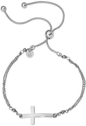 Silver Cross Italian Adjustable Bracelet, 4.0g