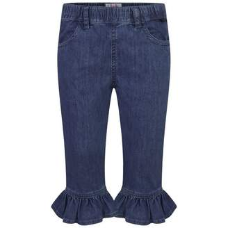 Il Gufo Il GufoGirls Blue Denim Stretch Capri Jeans